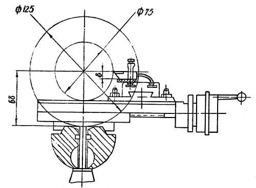 16Т02П Габаритные размеры рабочего пространства токарно-винторезного станка