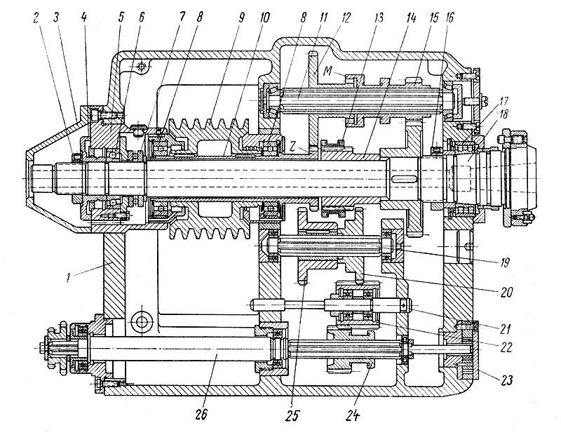 1а616, 1А616п, 1А616к Передняя бабка токарно-винторезного станка