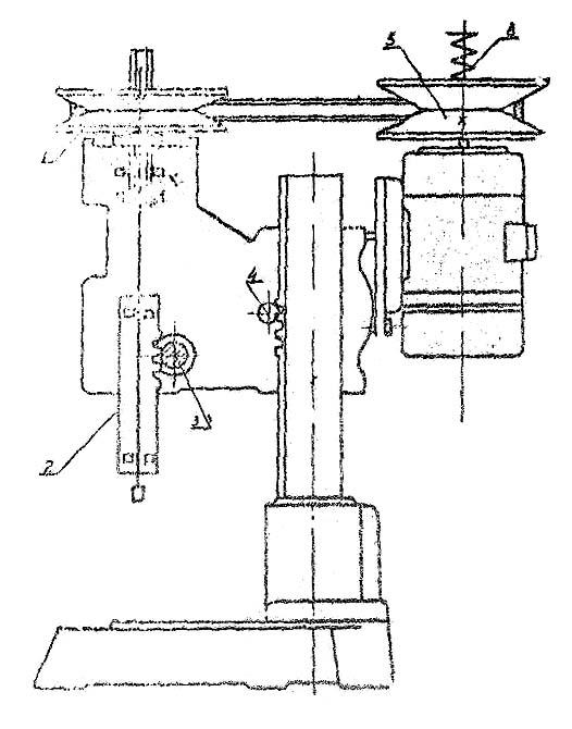 2А112 Схема кинематическая сверлильного станка