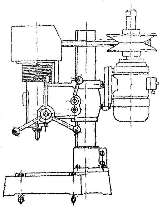 2А112 Расположение составных частей настольно-сверлильного станка