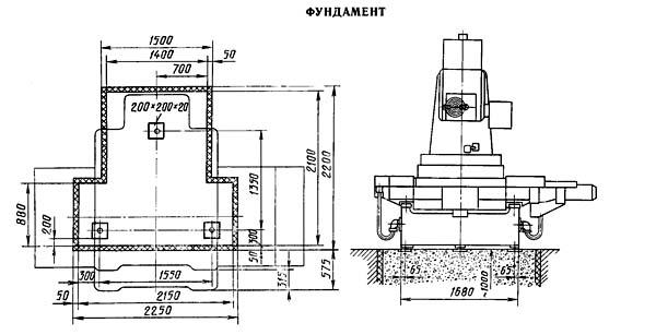 2Е450АФ30 Фундамент координатно-расточного станка