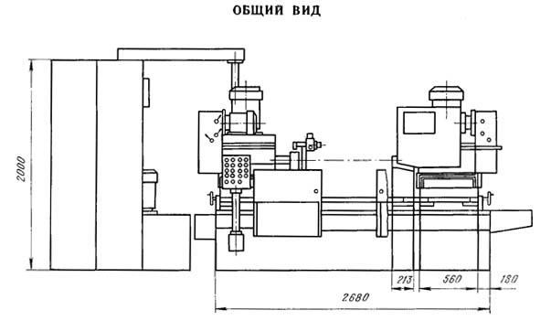 Габарит рабочего пространства радиального сверлильного станка 2Г942