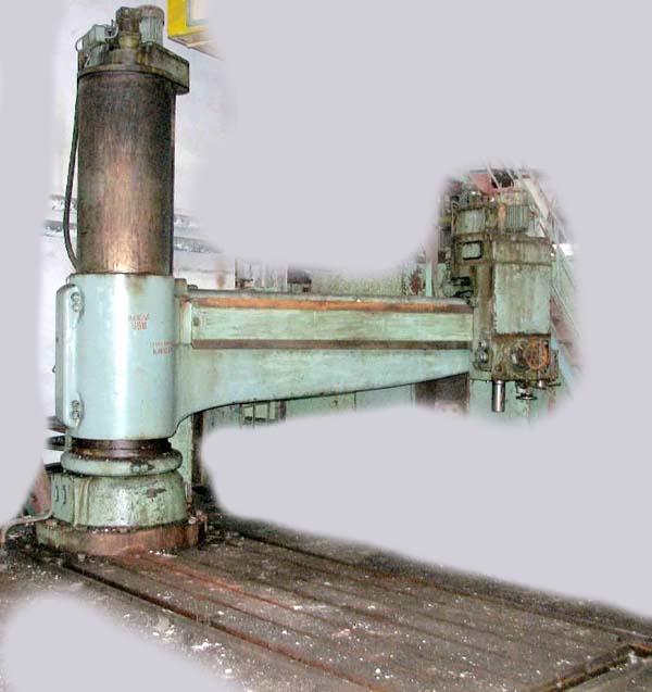 Общий вид и органы управления радиально-сверлильного станка 2М58
