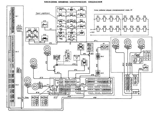 Схема электрическая плоскошлифовального станка 3Б724