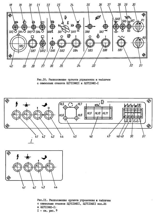 Пульт управления плоскошлифовальным станком 3Д711ВФ11