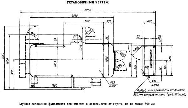 5М150 Установочный чертеж зубодолбежного полуавтомата 5М150