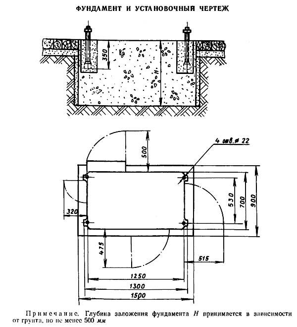 5В12 Установочный чертеж зубодолбежного станка