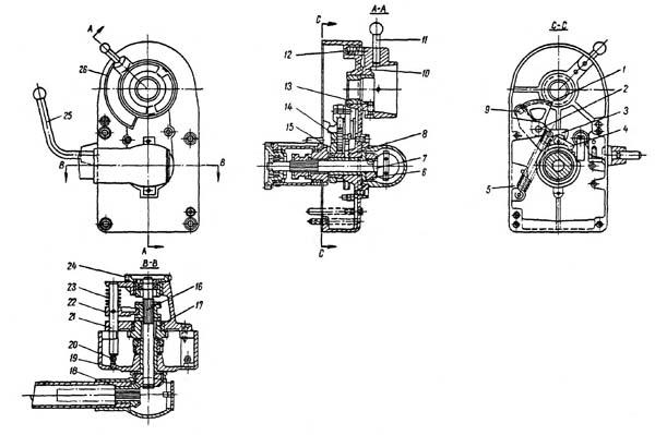 Механизм подачи стола строгального станка 7Б35