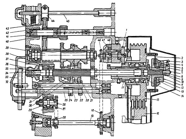 Коробка скоростей строгального станка 7Б35