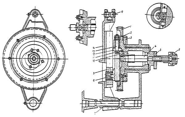 Кулисный механизм строгального станка 7Б35