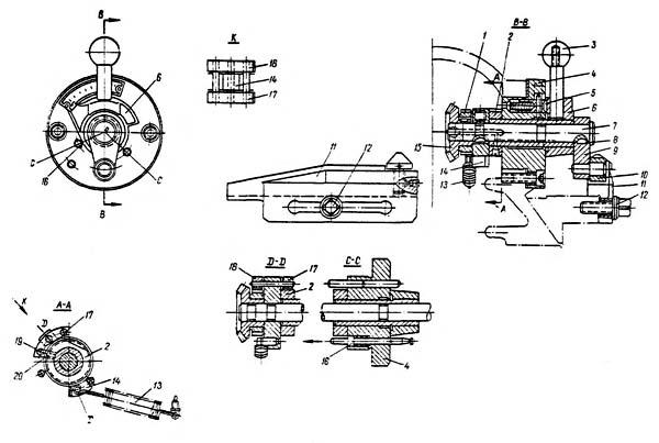 Механизм вертикальной подачи суппорта строгального станка 7Б35