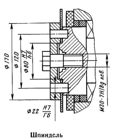 Посадочные и присоединительные базы отрезного станка 8Г662