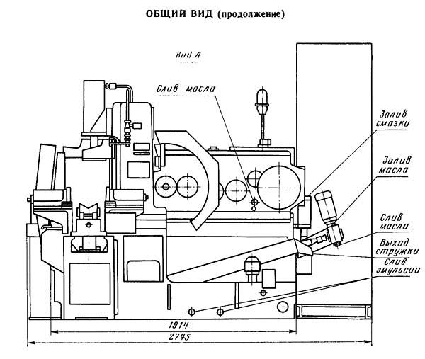 Общий вид и органы управления отрезного станка 8Г662