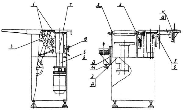 Состав комбинированного станка Д300