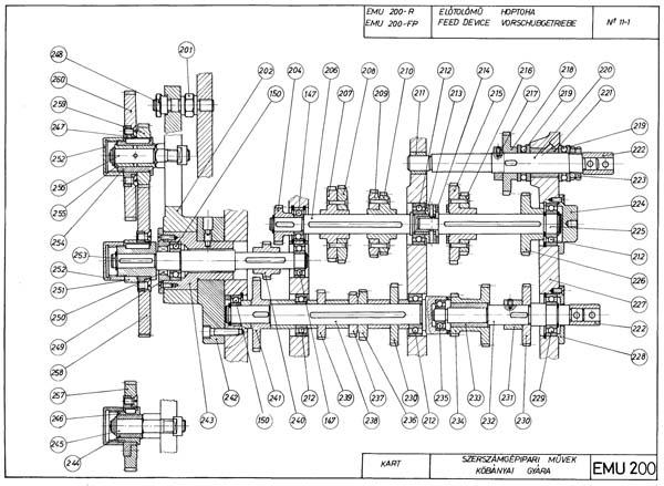 EMU-200 Коробка подач токарно-винторезного станка