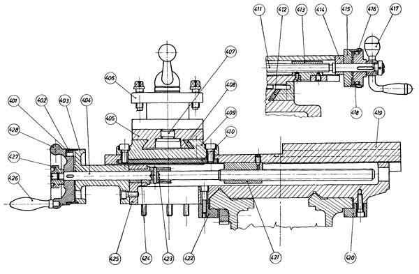 EMU-200 Суппорт токарно-винторезного станка