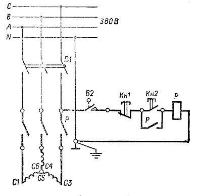 Схема электрическая комбинированного станка ФПШ-5М