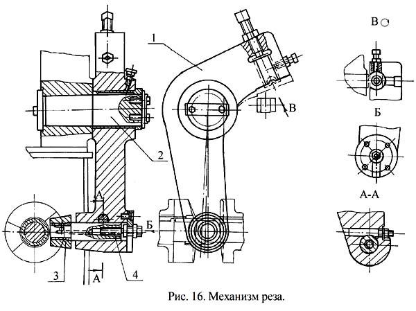ГД-162 Механизм реза правильно-отрезного станка ГД-162