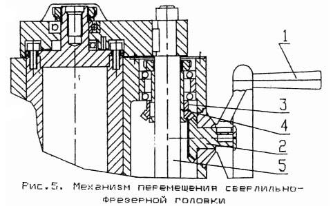 ГС-520 Механизм перемещения сверлильно-фрезерной головки по колонне сверлильно-фрезерного станка