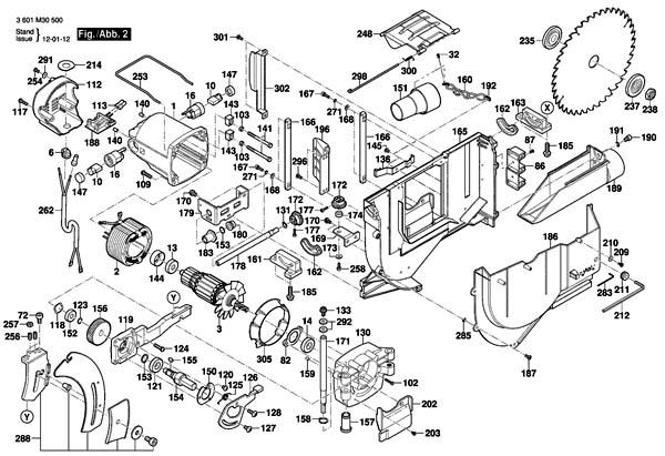 GTS-10 j Пила циркулярная настольная. Схема и детали сборки