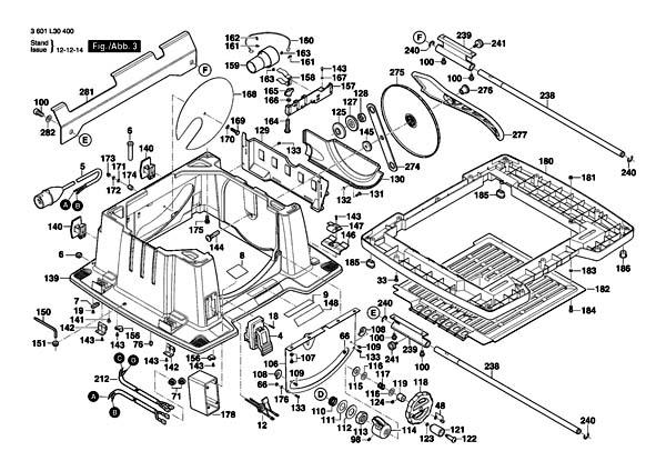 GTS-10 xc Пила циркулярная настольная. Схема и детали сборки