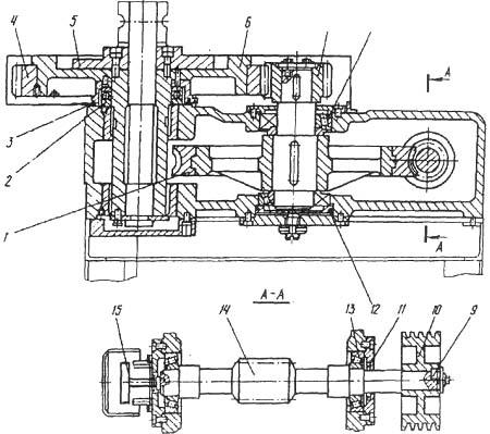 Чертеж редуктора трубогиба электромеханического ИВ3428