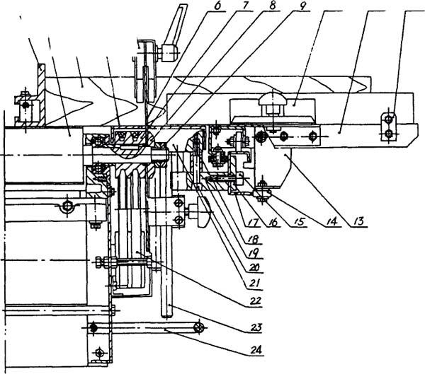 Схема пильной части на станке PKM-300 (Рис. 4)
