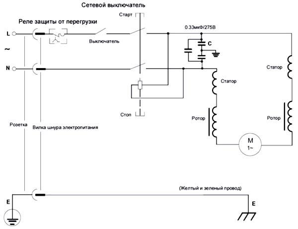 JPT-10B Схема электрическая принципиальная фуговально-рейсмусового станка