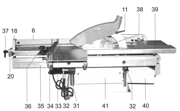 Состав комбинированного станка Корвет 320