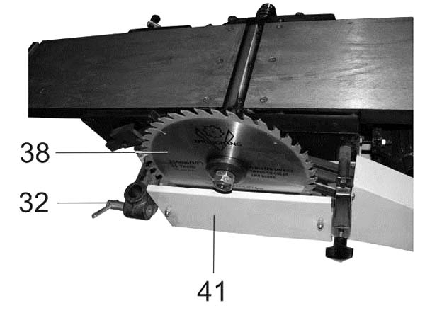 Установка пильного диска на станок Корвет 320