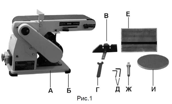 Комплект поставки шлифовального станка Корвет-51