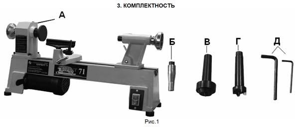 Комплект поставки токарного станка Корвет-71