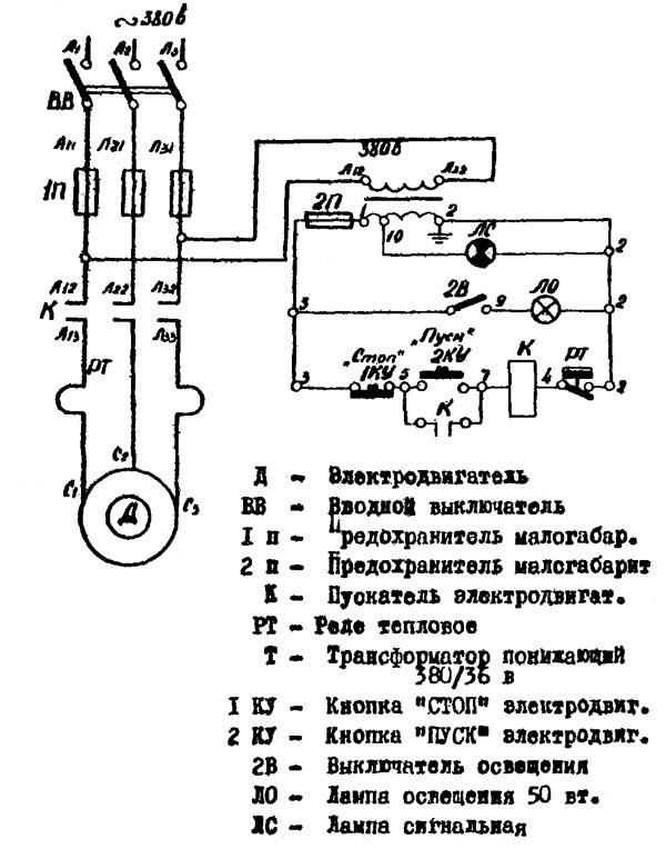 МА4129А Схема электрическая ковочного молота