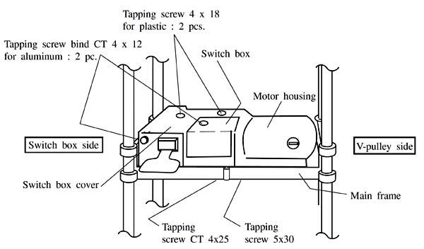 Снятие моторного модуля с рейсмуса Makita 2012