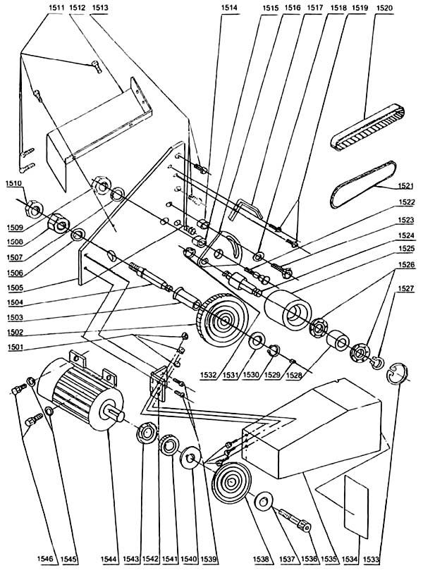 MML 250x550 Схема сборки токарного станка. Привод станка