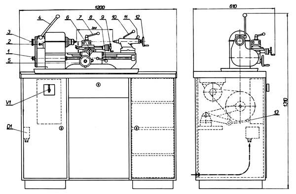 mn-80 a Расположение органов управления токарным станком mn-80 a