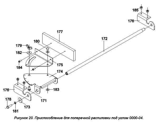 Приспособление для поперечной распиловки под углом станка Мастер-Универсал