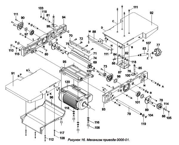 Мастер-Универсал станок комбинированный. Схема и детали сборки