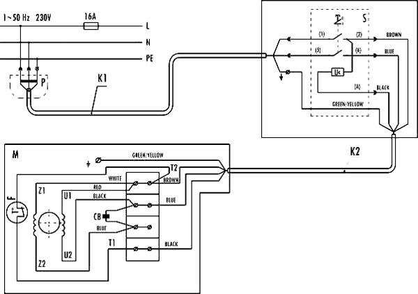 Схема электрическая комбинированного станка Мастер-Универсал