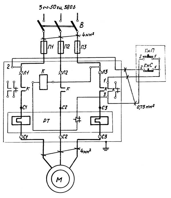 МВ-412 Схема электрическая принципиальная молота МВ-412