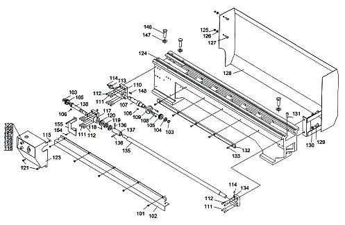 Профи 550 Схема сборки станины токарного станка