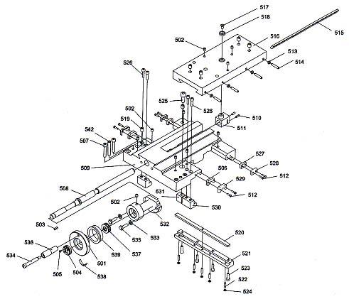 Профи 550 Схема сборки суппорта токарного станка