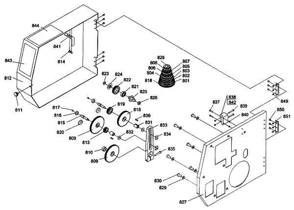 Профи 550 Схема сборки коробки подач токарного станка
