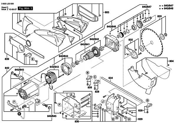 PTS-10 Пила циркулярная настольная. Схема и детали сборки