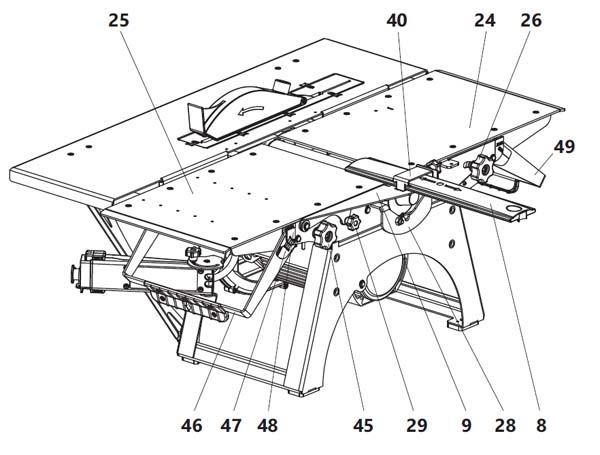 Установка строгальных столов на комбинированный станок СДМ-2000