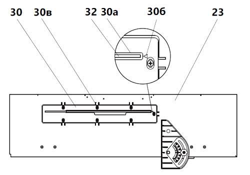 Регулировка накладки пильного диска