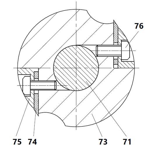Крепление ножей на комбинированном станке СДМ-2200
