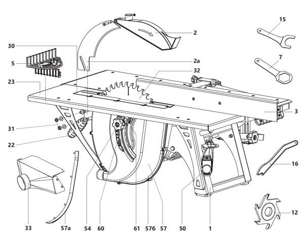 Состав комбинированного станка СДМ-2200