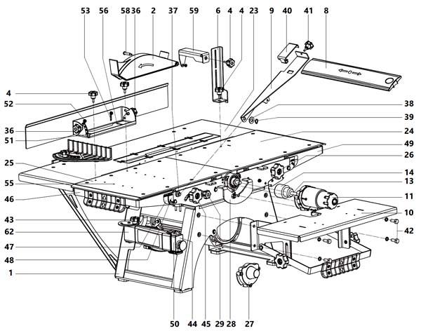 Состав комбинированного станка СДМ-2000