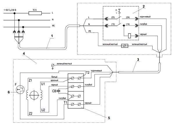 Схема электрическая комбинированного станка СДМ-2000